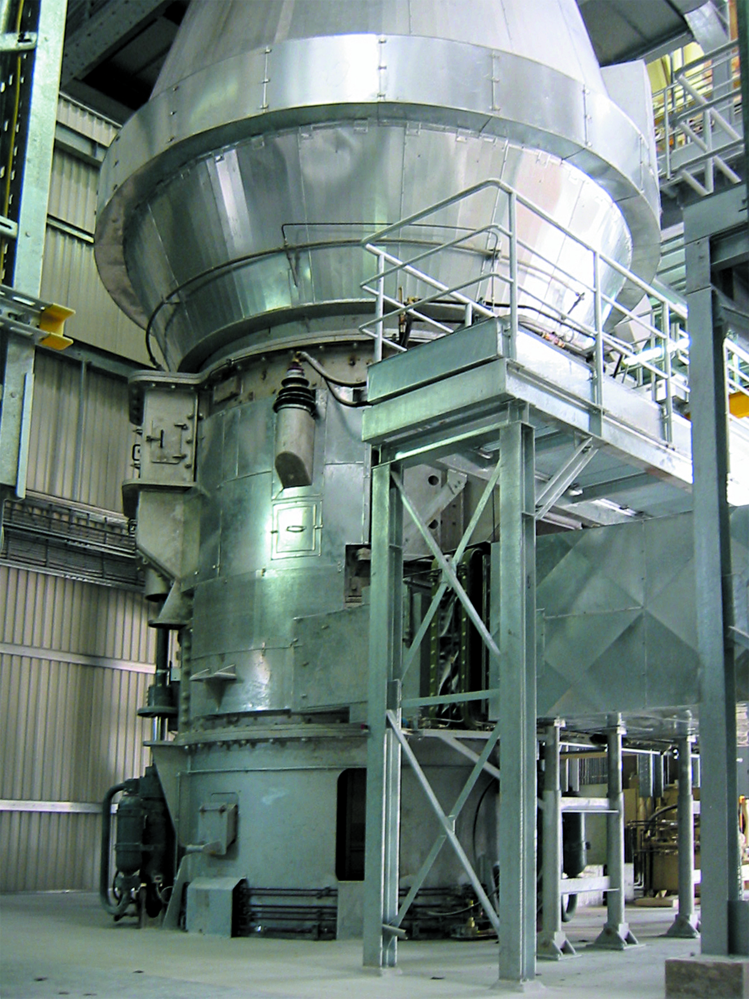 Gypsum roller mill