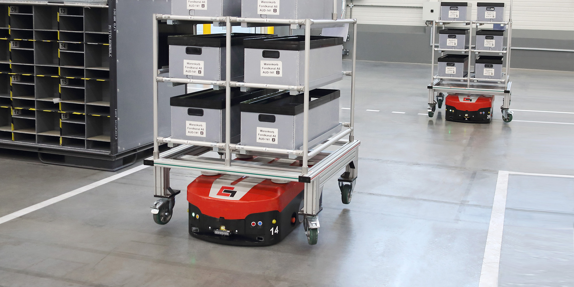 Automated guided vehicles goods carrier